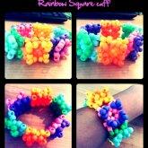 Rainbow Square Cuff