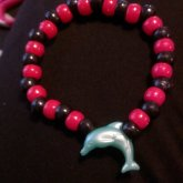 Black And Red With A Green Dolphin Single :)
