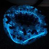 BLUE EL WIRE 3D Kandi Cuff