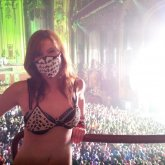 Me In My Black And White Lace Pattern Bikini And Mask At GDF