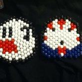Mario Ghost/Peppermint Butler Peyotes