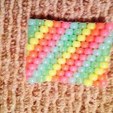 Glow Rainbow Peyote Stitch