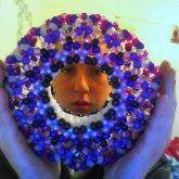 Purple Slinky Cuff (above View)