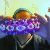 Purple Slinky Cuff (side View)