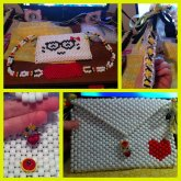 Hello Kitty Face With Glasses Purse