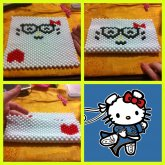Hello Kitty Face With Glasses Purse Work In Progress
