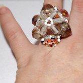 Briolette Flower Ring