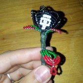 Black Skull Rose