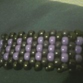 Black And Purple Cuff