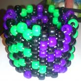 Green Black And Purple Swirl Cuff