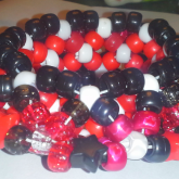Black White And Red 3D Cuff