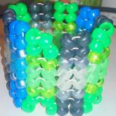 Green, Blue, And Grey Herringbone Cuff