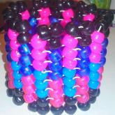 Pink, Black, And Blue Herringbone Cuff