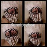 Black And White Kandi Mask