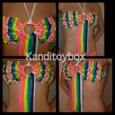 Sexy Rainbow Kandi Bra
