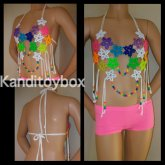 Sexy Rainbow Star Diamond Kandi Bra