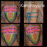 Super Sexy Rainbow Cage Kandi Bra