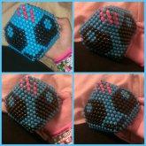 Used @cosmickandikitty 's Skrillex Mask Pattern,??