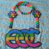 EDC Perler Necklace All Done! This Will Be My Only