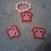 Toast Earrings And Bracelet
