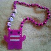 Pink Domo Necklace
