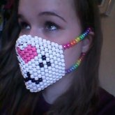 Kitty Mask With Rainbow Straps