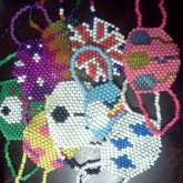 All of my kandi masks .