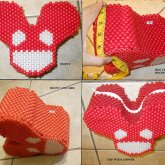New 3D Deadmau5 Backpack With Zipper