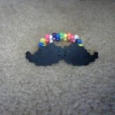 Perler Bead Mustache On Kandi