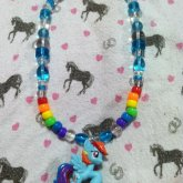 Rainbow Dash Blind Bag Pony Necklace