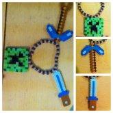 Minecraft Charm Bracelet :)