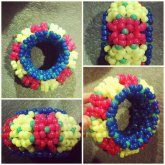 Pink/Blue/Yellow 3D Cuff
