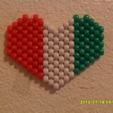 MEXICAN FLAG HEART