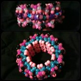 Cotton Candy Colored Cage Cuff