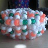 Orange, Green And White UFO Cuff