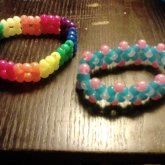 Rainbow Square Bracelet And Glow-in-the-dark Diamond Bracelet