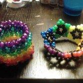 Rainbow Phattie Cuff And Rainbow Star Cuff
