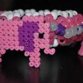 3D Pink Elephants On Parade Cuff