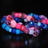 Pink, Blue, And Purple Swirl Cuff