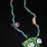 Epic Glow In The Dark Gir Perler Necklace
