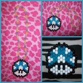 Blue Mario Mushroom Necklace