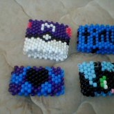 Master Ball, Unity, Checker Heart, And Toothless Cuffs.