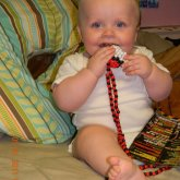 My Baby Brother Modeling(Chewing) My Pokeball, Necklace.