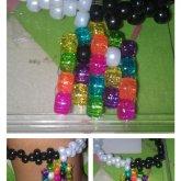Black,White, And Rainbow Pacman Anckle Bracelet