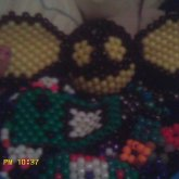 3d Black And Yellow Deadmau5 Head Ontop Kandi Bucket Mound