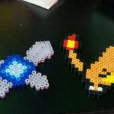 Navi And Charmander Perlers
