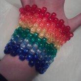 Clear Rainbow Cuff