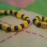 Black And Yellow Smiley Bracelet