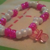 Pink And White Single W/miniature Binky :3