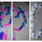 Bisexual Flag Colors, Necklace And Bracelet Bisexual Pride <3
